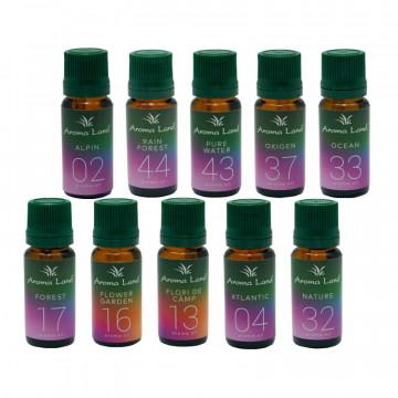 Pachet 10 uleiuri aromaterapie Plimbare In Natura, Aroma Land, 10 ml