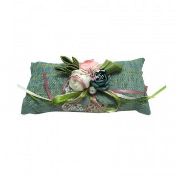 Pernuta textila turcoaz cu carbune activ bambus