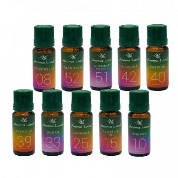Pachet 10 uleiuri aromaterapie Summer Vibe, Aroma Land, 10 ml