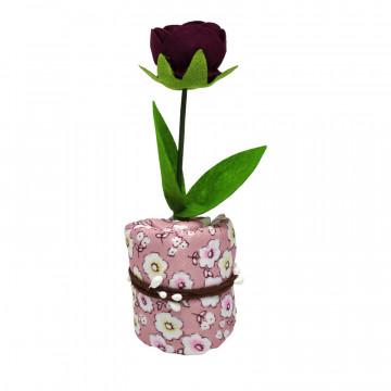 Floare rosie cu carbune activ bambus