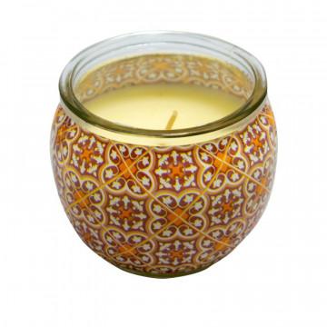 Lumanare ornamentala in cutie, Vanilie, 20h, Aroma Land