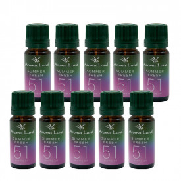 Pachet 10 uleiuri aromaterapie Summer Fresh, Aroma Land, 10 ml