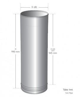 Tubo 1mt INOX (110)