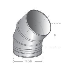 Curva 45º INOX (80)