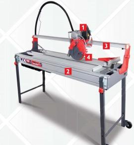 Cortador elétrico DX-250 1000 Laser&Level RUBI