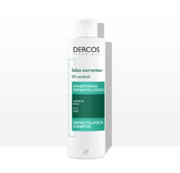 DERCOS Šampon za regulaciju sebuma 200ml