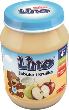 LINO KAŠICA JABUKA+KRUŠKA 190g