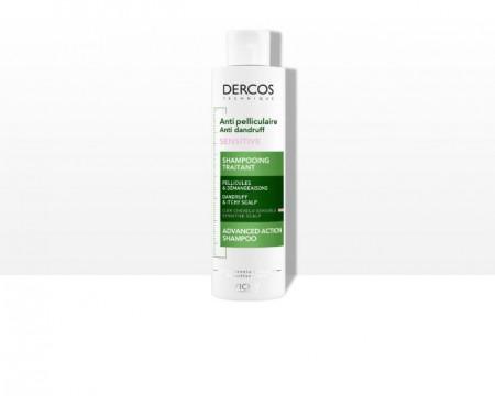 DERCOS Šampon protiv peruti za osetljivu kožu skalpa bez sulfata 200ml