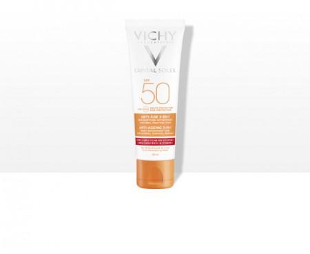 VICHY IDEAL SOLEIL Krema za zaštitu od sunca sa anti-age efektom SPF 50 visoka zaštita