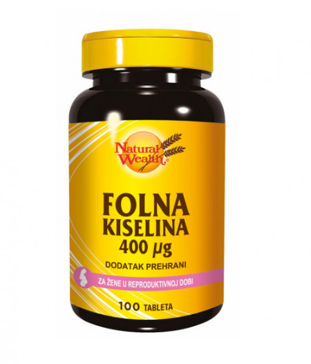 Natural Wealth Folna kiselina 400mcg 100 tableta