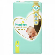 PAMPERS 1 PREMIUM CARE 2-5KG 54KOM