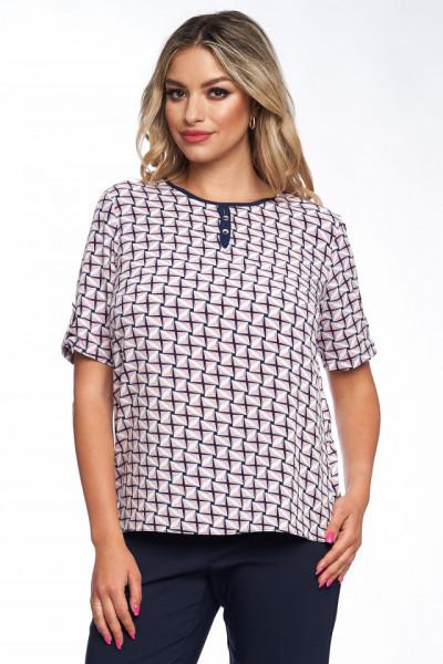 Bluza imprimata cu romburi albe