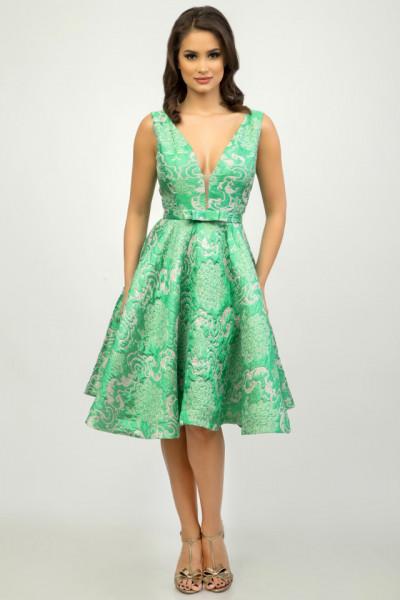 Rochie midi eleganta verde menta