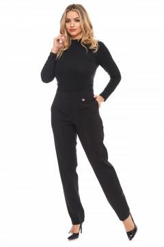 Pantaloni eleganti negri lungi cu buzunare