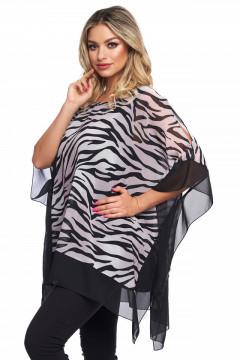 Bluza animal-print in colturi