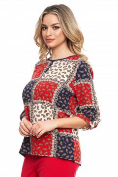 Bluza multicolor cu motive antice