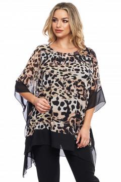 Bluza neagra cu animalprint