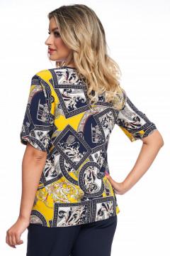 Bluza bleumarin cu galben