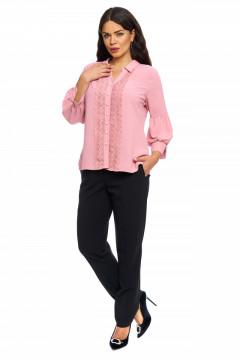 Bluza eleganta roz-prafuit cu broderie aplicata