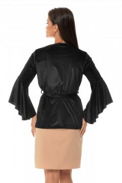 Bluza catifea neagra & maneci clopot