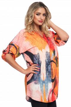 Bluza corai cu imprimeu multicolor