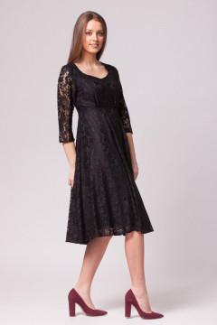Rochie midi eleganta din dantela neagra