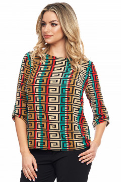 Bluza multicolor cu desen