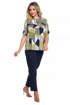 Bluza imprimata cu figuri geometrice
