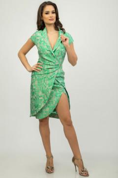 Rochie verde cu crapatura pe picior