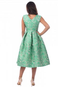 Rochie de ocazie jacquard verde menta