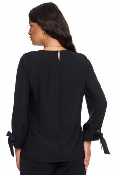 Bluza eleganta neagra cu accesoriu inclus