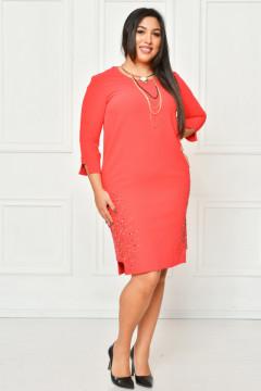 Rochie eleganta rosie si colier