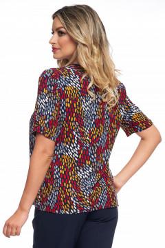 Bluza multicolora cu maneca scurta