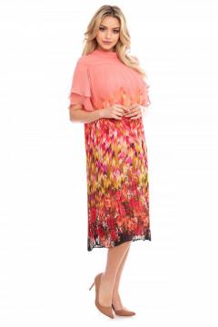 Rochie plisata imprimata