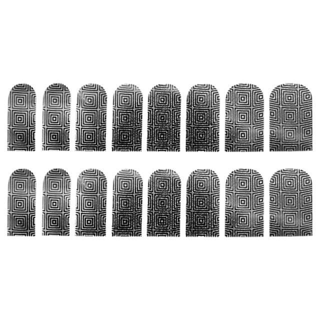 Abtibilde Unghia Intreaga 16 Buc, Hypnotic Square, Stickere Unghii imagine produs