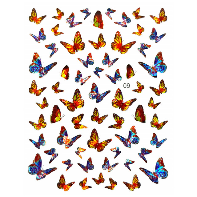 Abtibilde Unghii Motive Decorative Fluturi, JN09 imagine produs