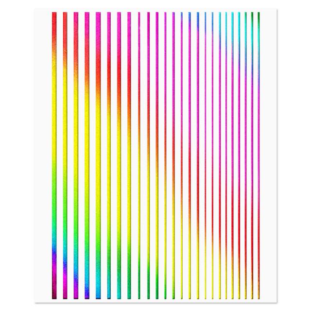 Abtibilde Unghii Motive Decorative Lineare Rainbow imagine produs