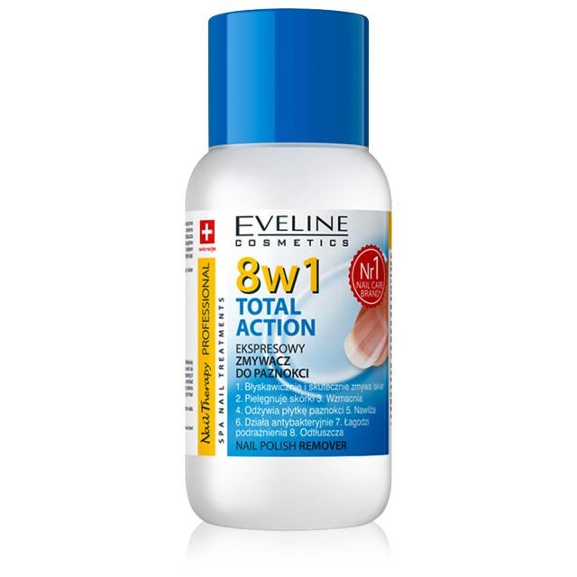 Acetona Unghii Total Action 8 in 1 Eveline Cosmetics, 150 ml imagine produs