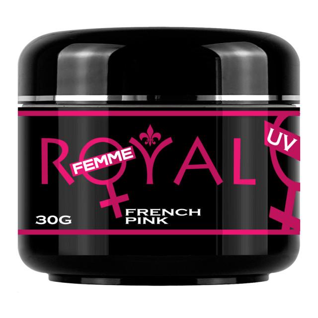 Gel UV French Pink 2 in 1 Royal Femme, Baza si Constructie, 30 ml imagine produs