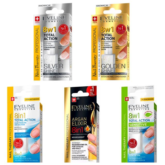 Kit Ingrijire Unghii si Cuticule 5 Tratamente 8 in 1 Eveline Cosmetics imagine produs
