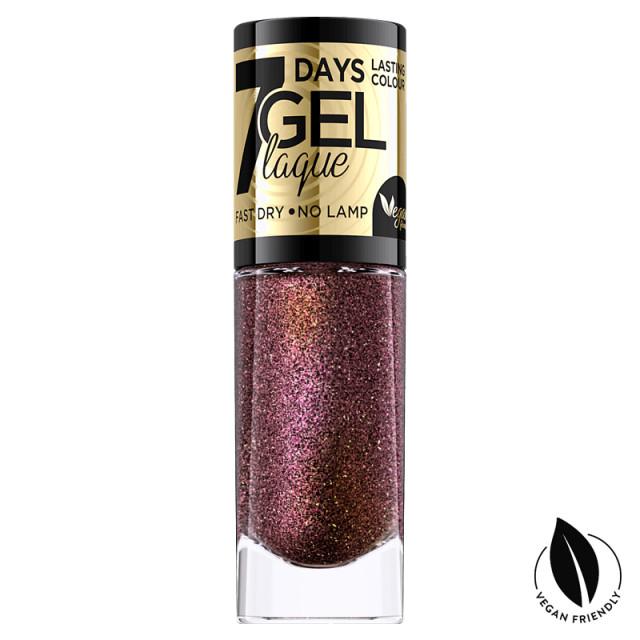 Lac Unghii cu Efect de Gel 7 Days Gel Festive Eveline Cosmetics No 01 imagine produs