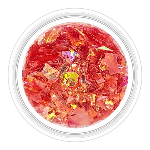 Paiete Unghii Efect de Gheata Culoare Rosu Rose, Cod PG-RR imagine produs