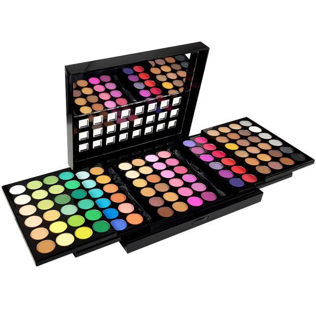 Paleta Machiaj Pleoape Hipoalergenica 96 Culori cu Oglinda si 4 Aplicatoare Eye Shadow imagine produs
