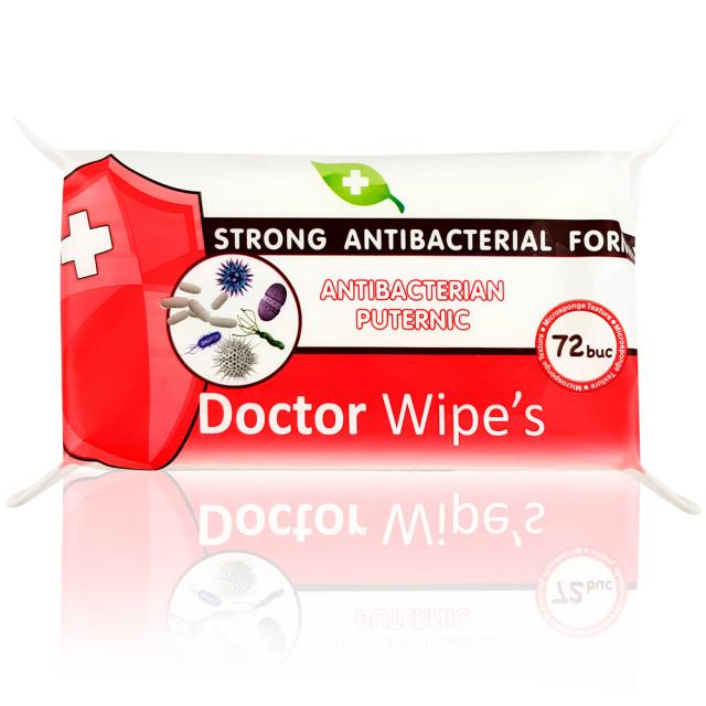 Servetele Antibacteriene Maini cu Alcool si Chlorhexidine Doctor Wipe's 72 Buc imagine produs
