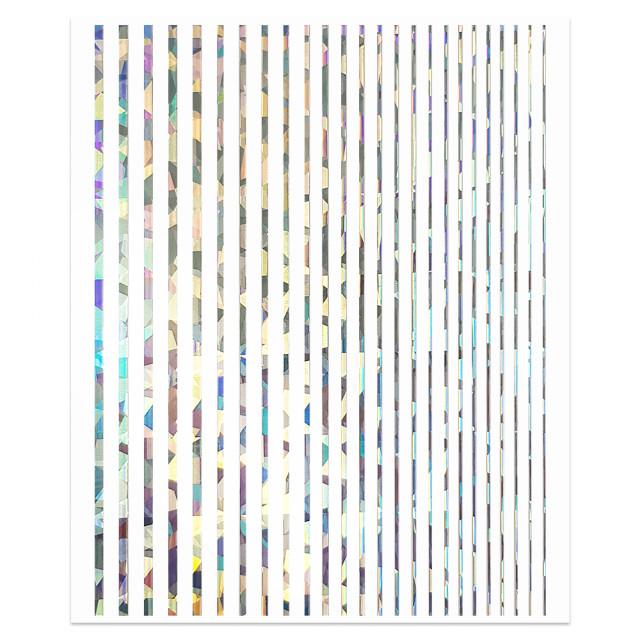 Abtibilde Unghii Motive Decorative Liniare, Linera Silver Reflection imagine produs