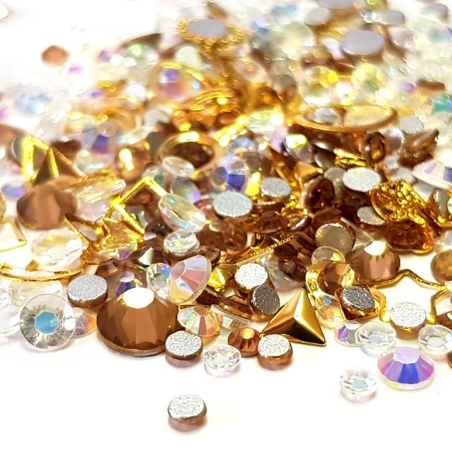 Decor Unghii, Ornamente Metalice si Pietricele, 82224 imagine produs
