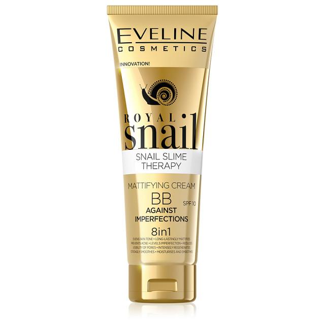 Fond de Ten 8in1 Eliminare Imperfectiuni Ten Royal Snail BB Cream SPF10 Eveline imagine produs
