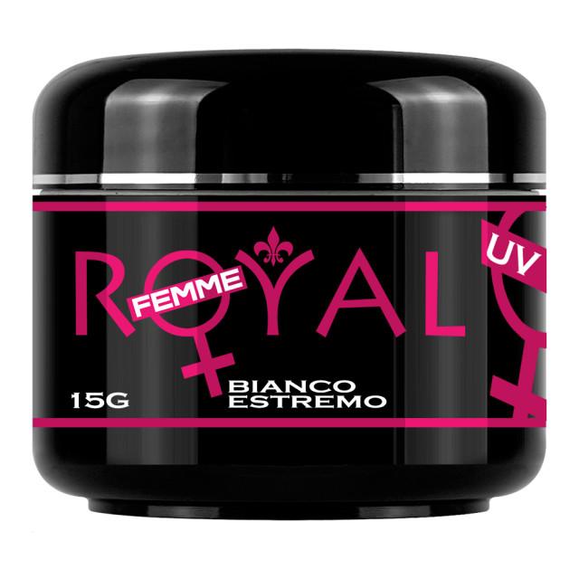 Gel UV Bianco Estremo Royal Femme, French, 15 ml imagine produs