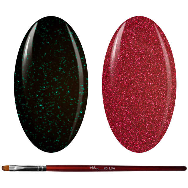 Kit Geluri Color + Pensula Gel Unghii, Cod K2GP-50G/64G imagine produs