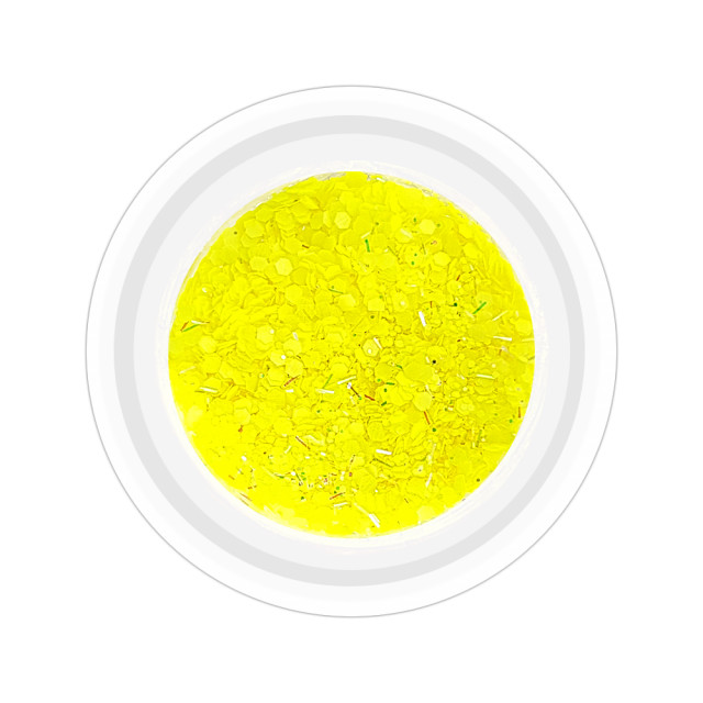 Paiete Unghii cu Holograme Neon Cod NH-01 Culoare Galben imagine produs